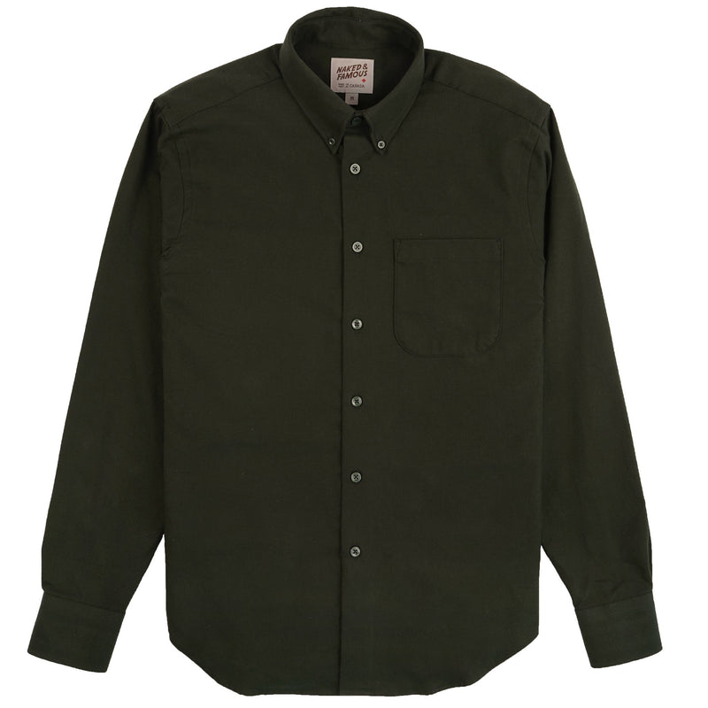 Easy Shirt - Solid Flannel - Forest