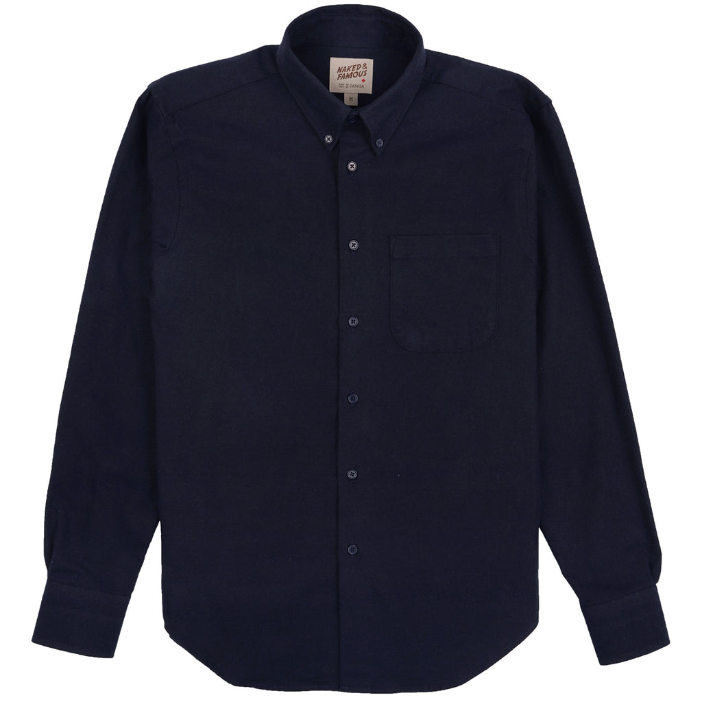 Easy Shirt - Solid Flannel - Navy