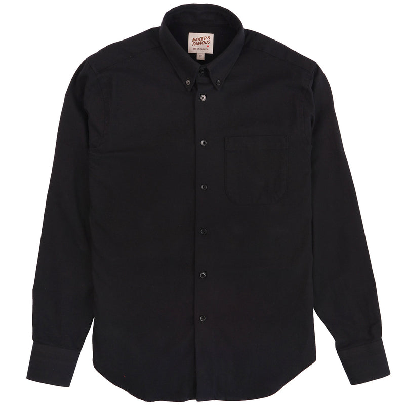 Easy Shirt - Solid Flannel - Black