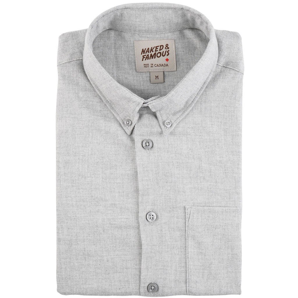 Easy Shirt - Classic Flannel - Pale Grey