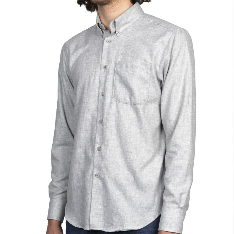 Easy Shirt - Soft Twill - Pale Grey - side
