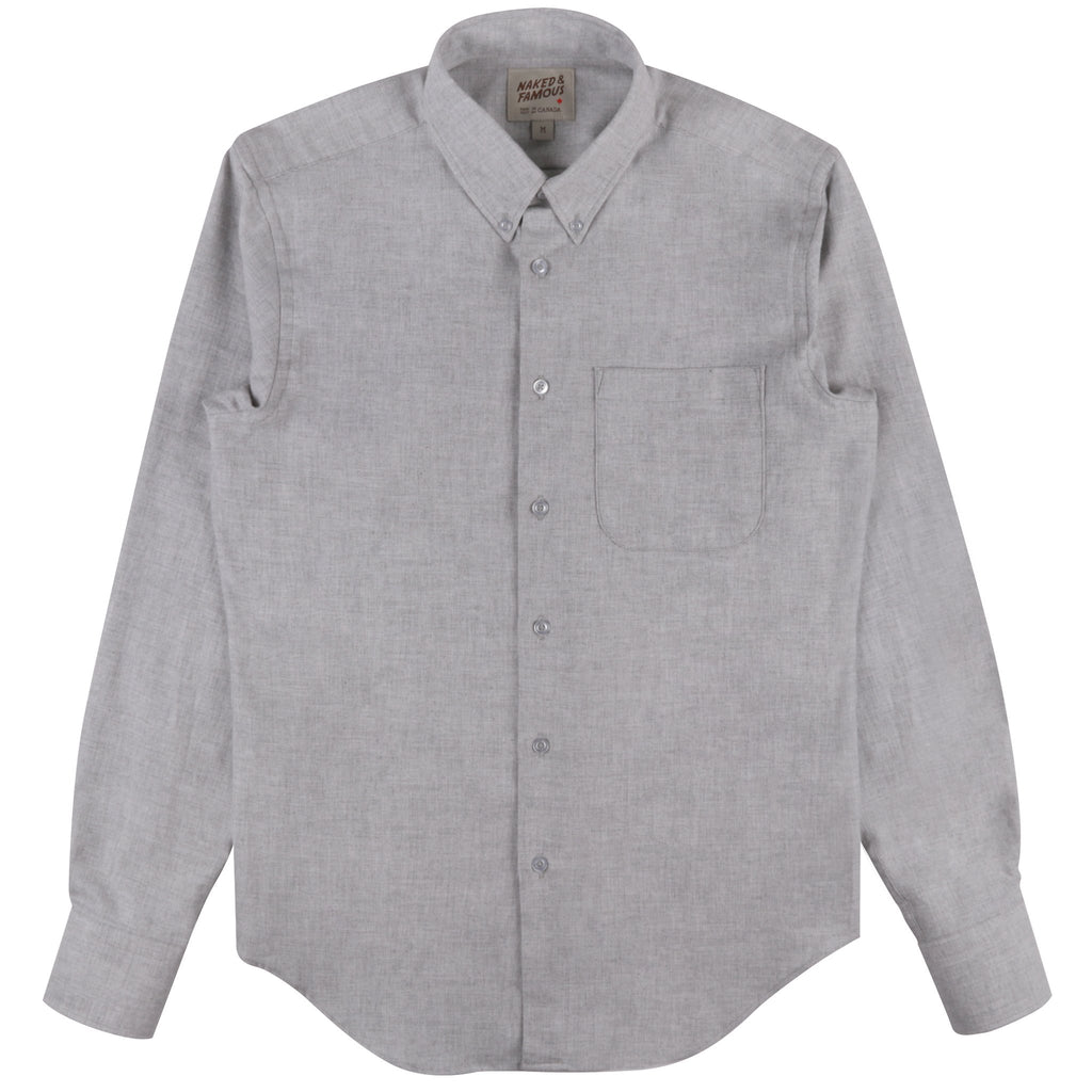 Regular Shirt - Classic Flannel - Grey