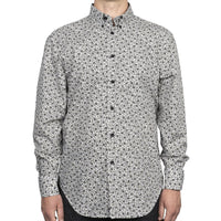 Easy Shirt - Black & White Flowers - White - front
