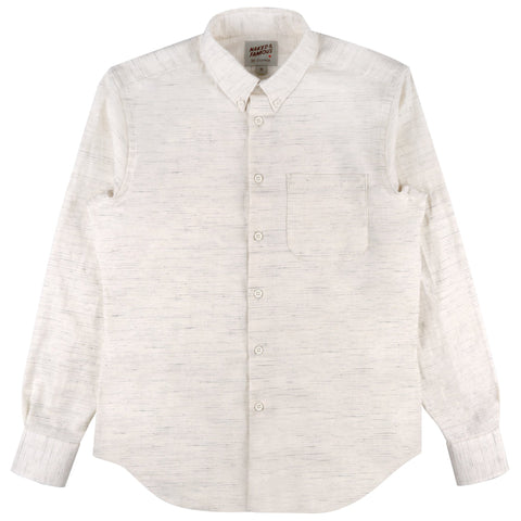 Easy Shirt - Mix Twill - White | Naked & Famous Denim