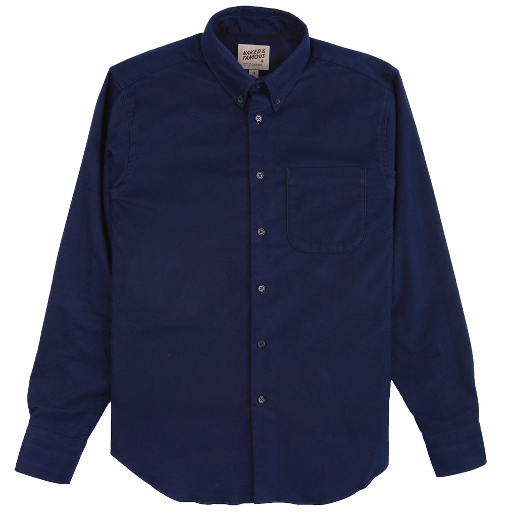 Easy Shirt - Natural Indigo Dyed Flannel