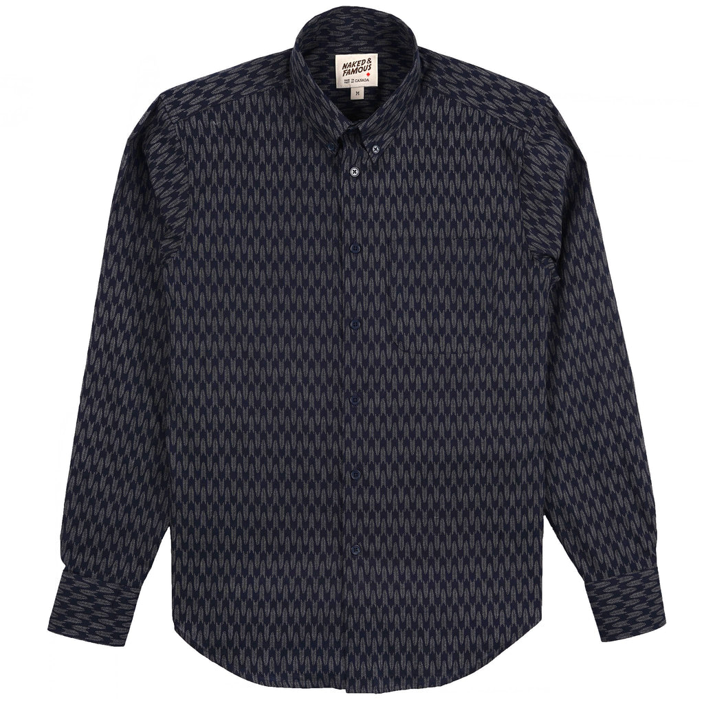 Easy Shirt - Japanese Arrowheads - Indigo