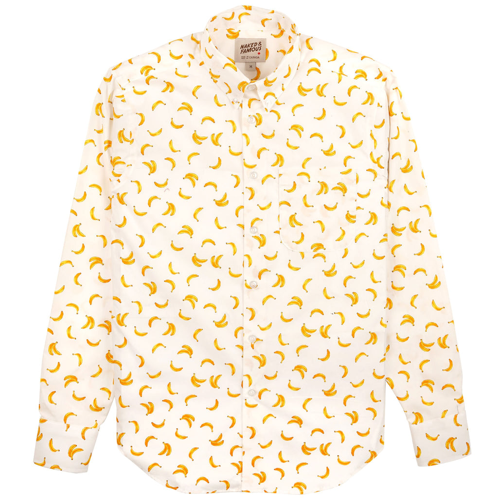 Easy Shirt - Banana Print - White