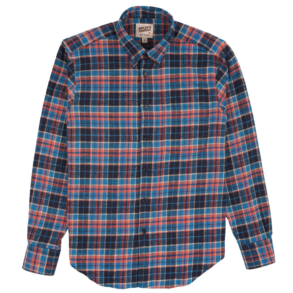 Easy Shirt - Rustic Nep Flannel - Navy/Blue