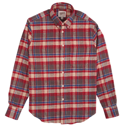 Easy Shirt - Rustic Nep Flannel - Red
