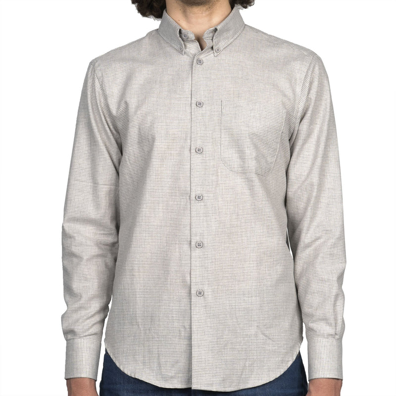 Easy Shirt - Heathered Houndstooth - Pale Grey - front