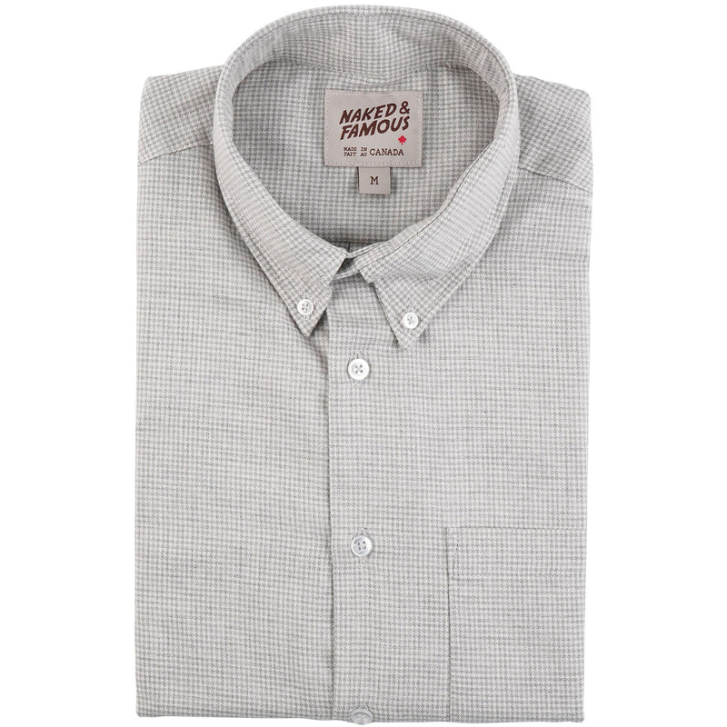 Easy Shirt - Heathered Houndstooth - Pale Grey - main