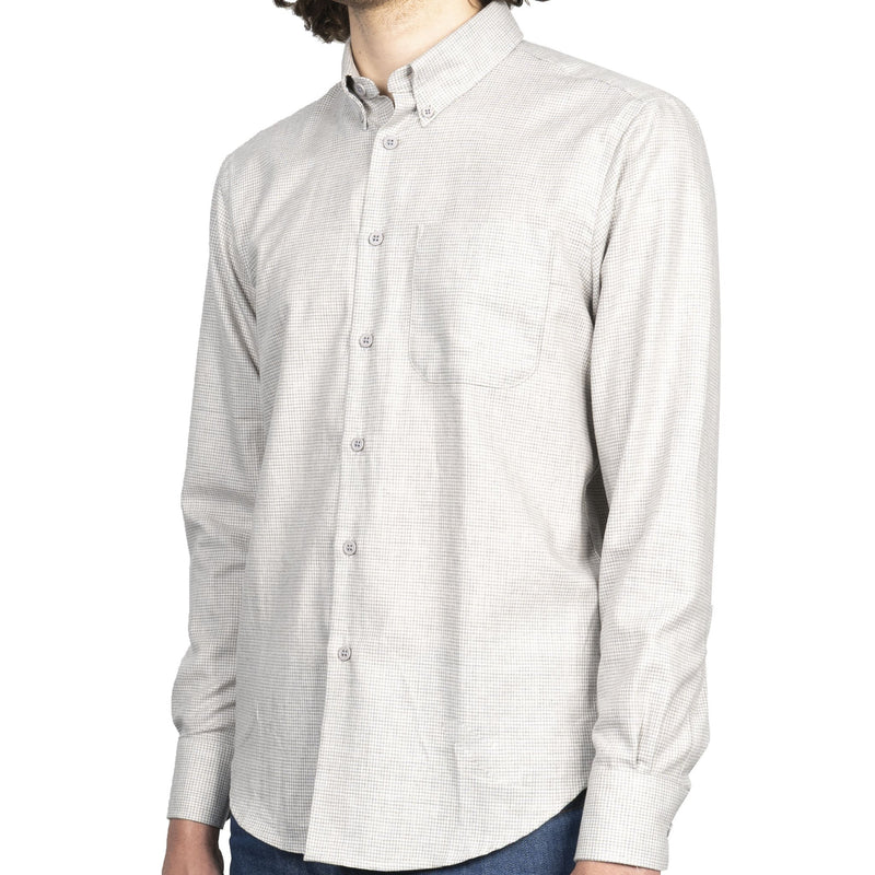 Easy Shirt - Heathered Houndstooth - Pale Grey - side