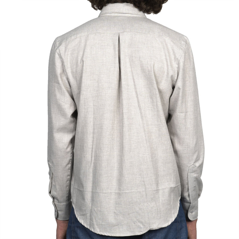 Easy Shirt - Heathered Houndstooth - Pale Grey - back
