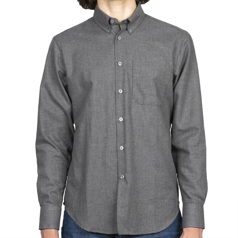 Easy Shirt - Heathered Houndstooth - Dark Grey - front
