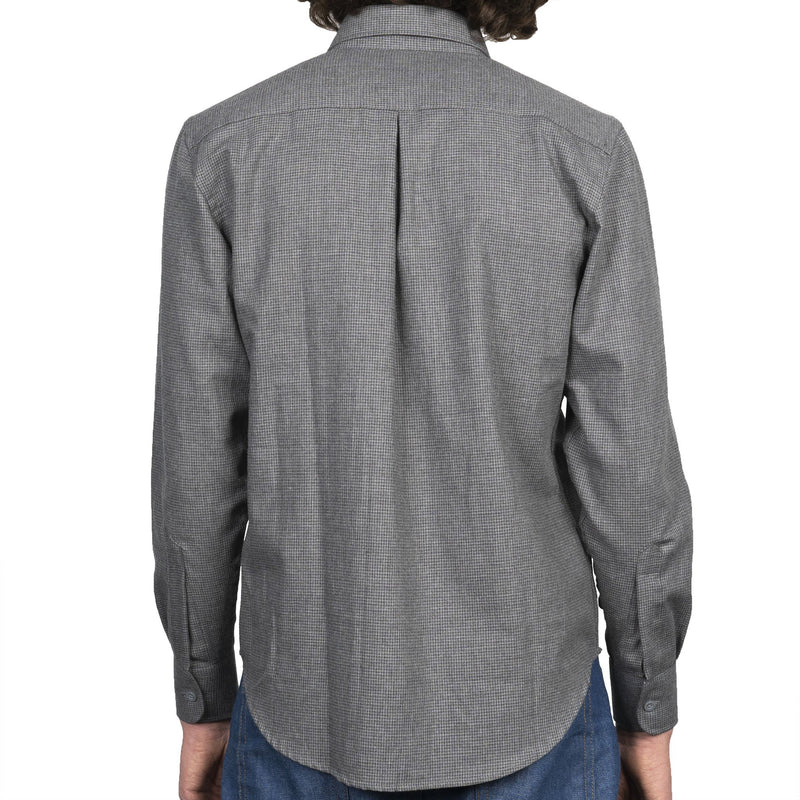 Easy Shirt - Heathered Houndstooth - Dark Grey - back
