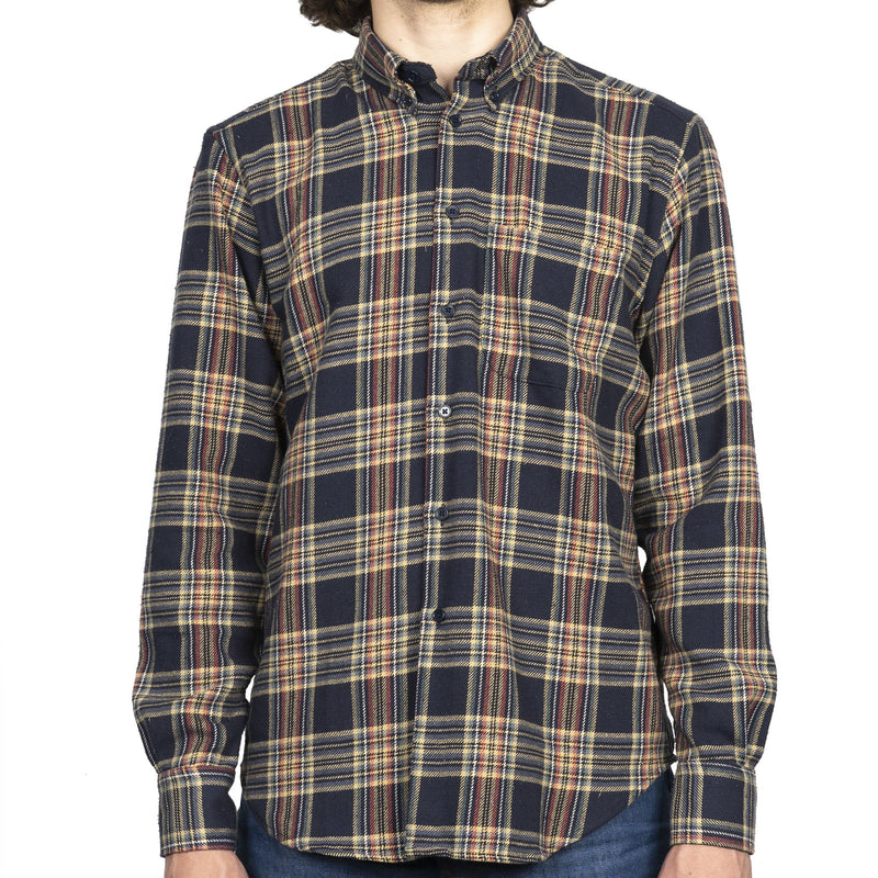 Easy Shirt - Cotton Silk Flannel - Navy - front