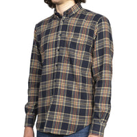 Easy Shirt - Cotton Silk Flannel - Navy - side