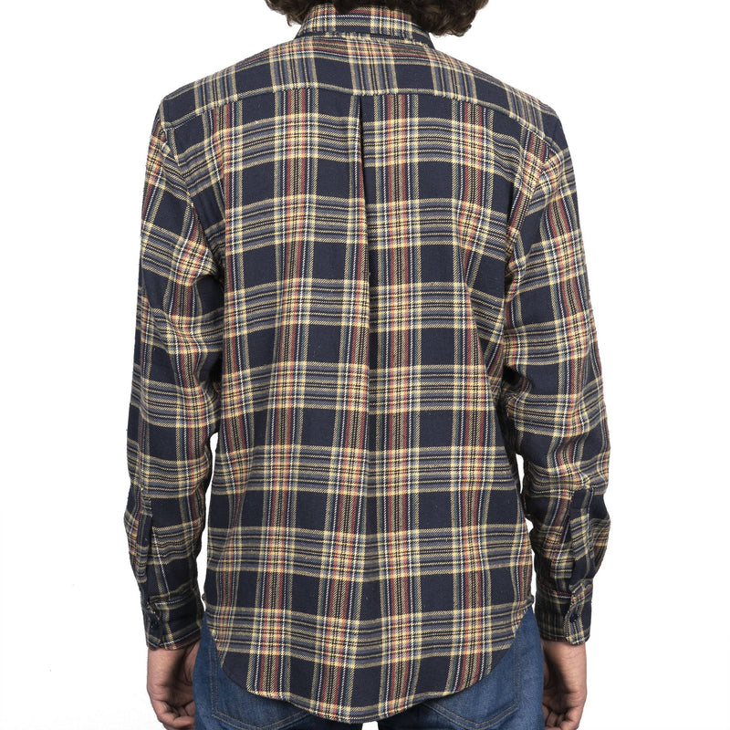 Easy Shirt - Cotton Silk Flannel - Navy - back