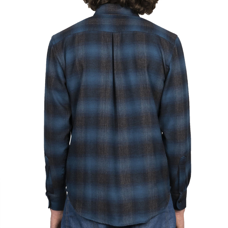 Easy Shirt - Brushed Plaid - Blue - back