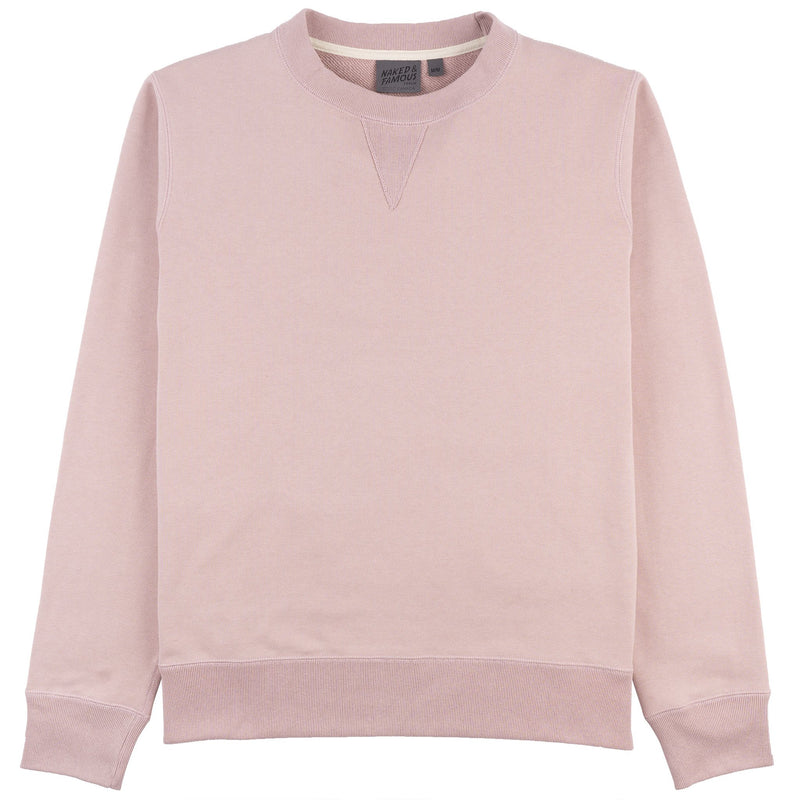 Crewneck - Heavyweight Terry - Blush - Front