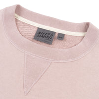 Crewneck - Heavyweight Terry - Blush - Collar