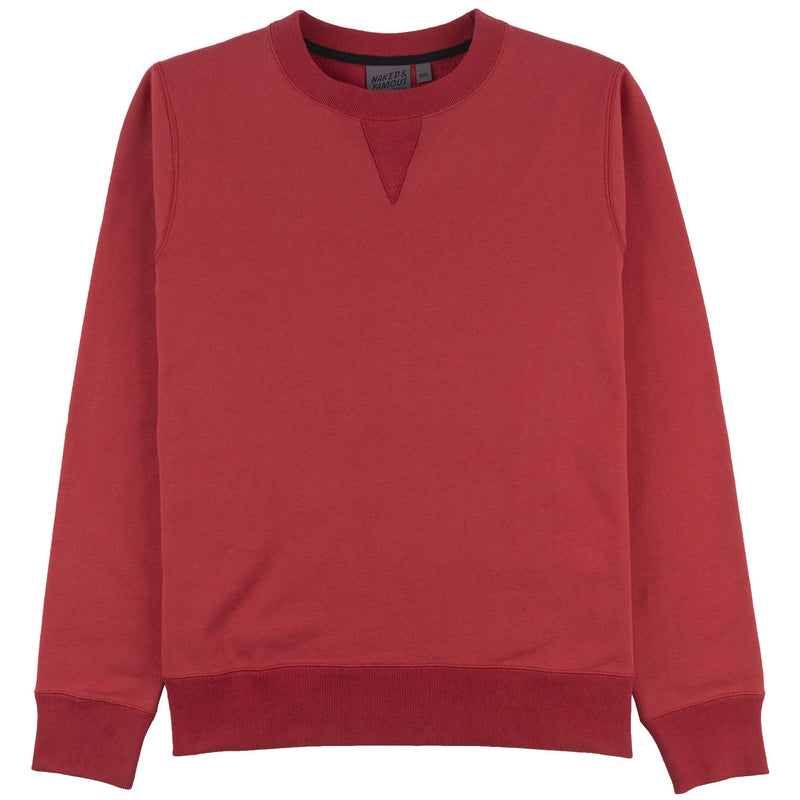 Crewneck - Heavyweight Terry - Red - Front