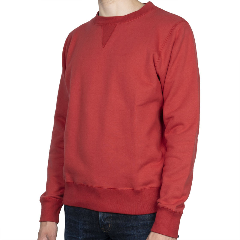 Crewneck - Heavyweight Terry - Red - side
