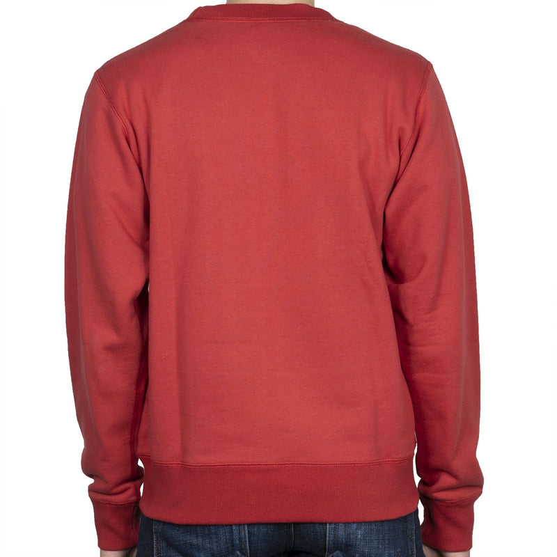 Crewneck - Heavyweight Terry - Red - back