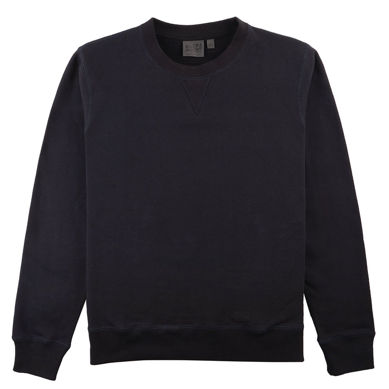 Crewneck - Heavyweight Terry - Navy Media 1 of 2