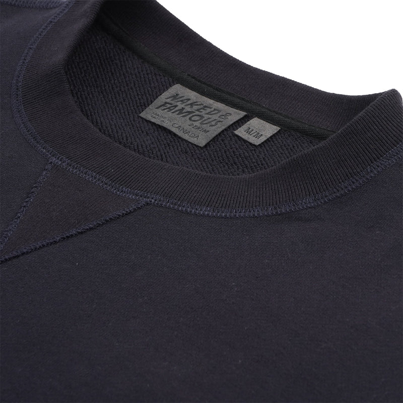 Crewneck - Heavyweight Terry - Navy Media 2 of 2
