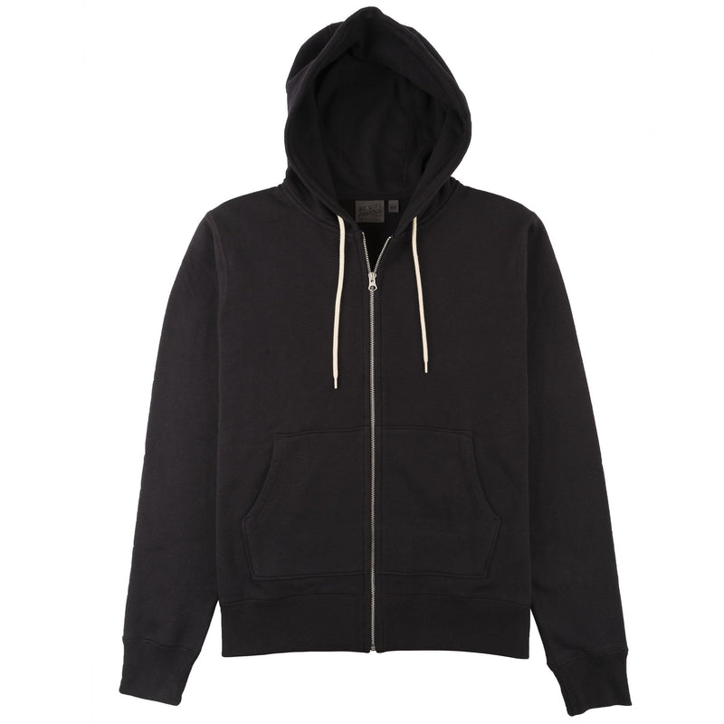 Zip Hoodie - Heavyweight Terry - Navy - front