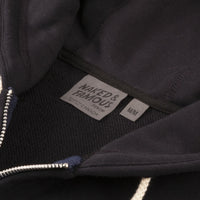 Zip Hoodie - Heavyweight Terry - Navy - collar