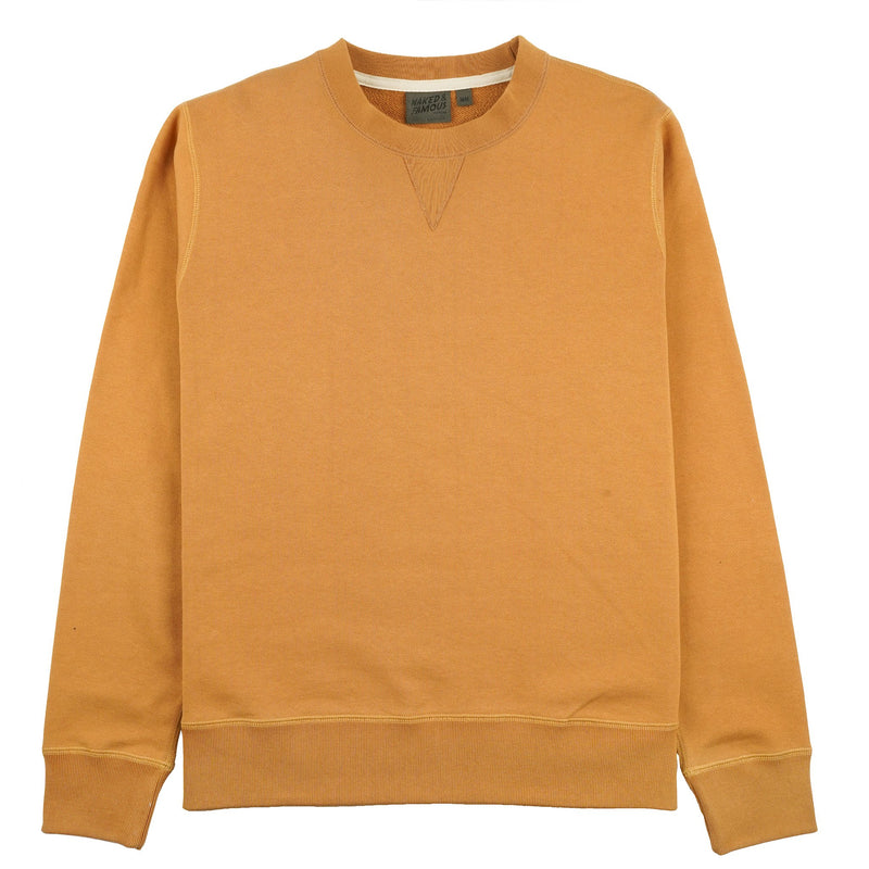 Crewneck Heavyweight Terry Amber - front
