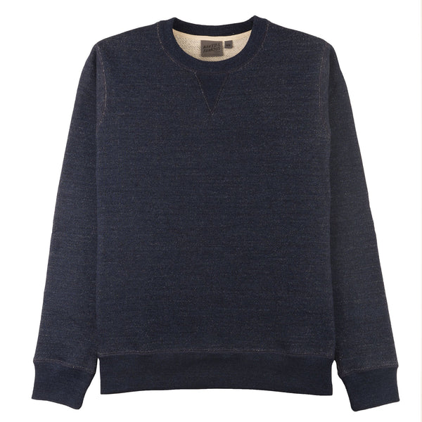 Crewneck - Real Indigo Heavyweight Terry - Deep Indigo - FRONT