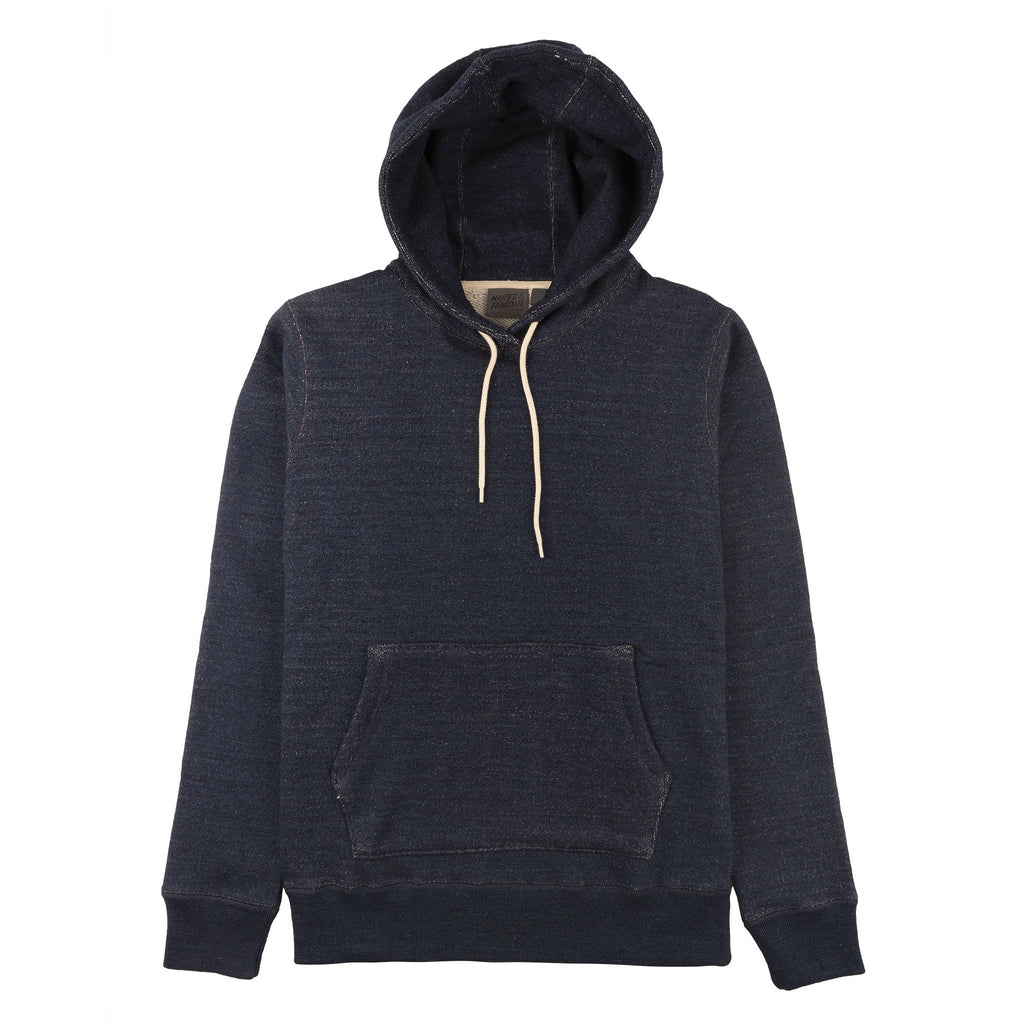 Pullover Hoodie - Dark Indigo Heavyweight Terry - FRONT