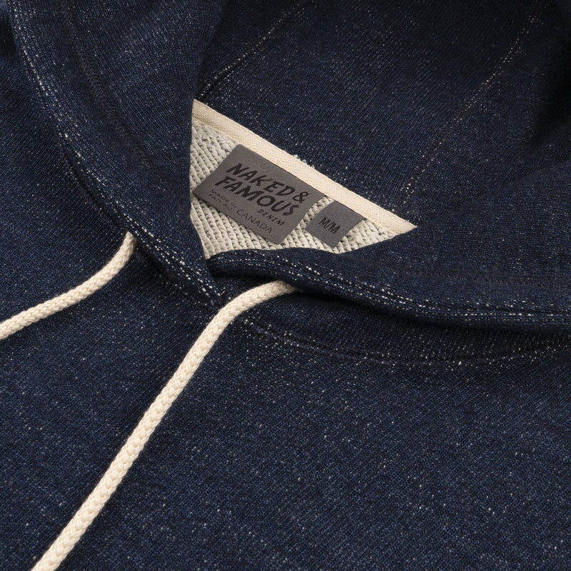 Pullover Hoodie - Dark Indigo Heavyweight Terry - COLLAR