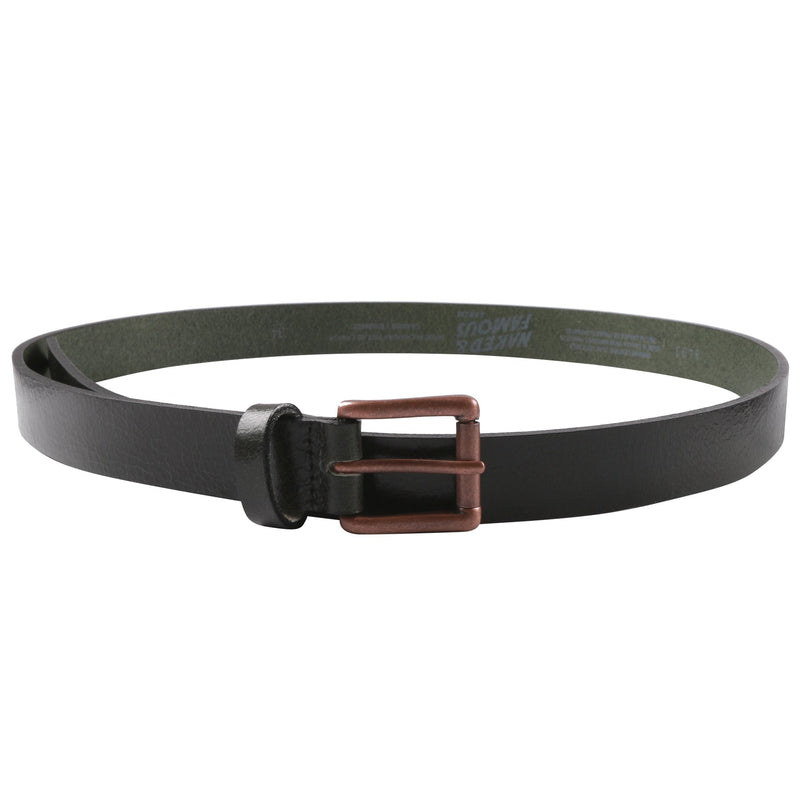 Buffalo Belt - Forest Green Buffalo Leather | Naked & Famous Denim