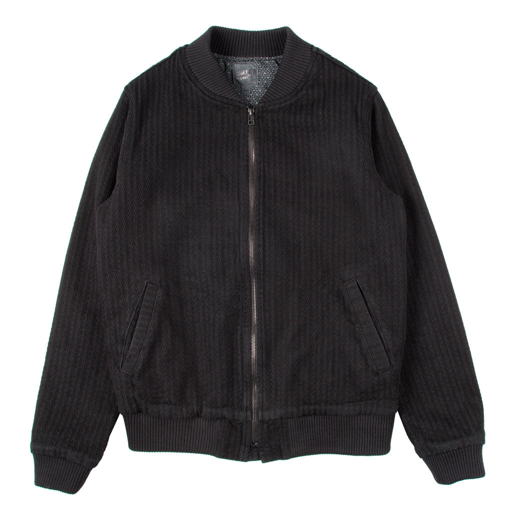 Bomber Jacket - Black Dobby Denim