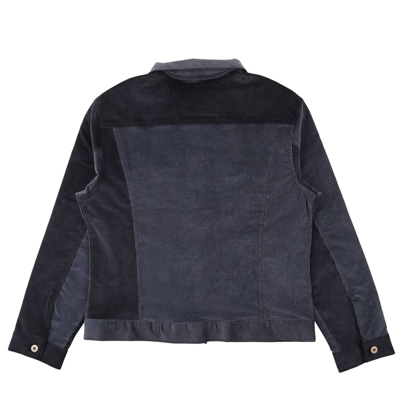 Corduroy Indigo Colorblock - back