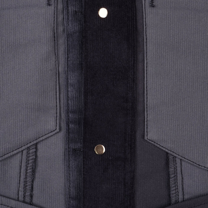 Corduroy Indigo Colorblock - inside