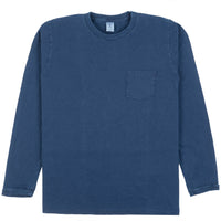 Indigo Long-Sleeved Pocket Tee - Blue Indigo