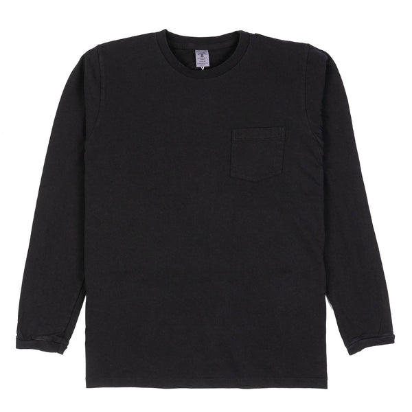 Indigo Long-Sleeved Pocket Tee - Black Indigo