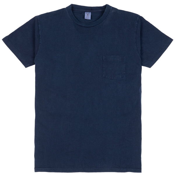 Indigo Crewneck Pocket Tee - Blue Indigo