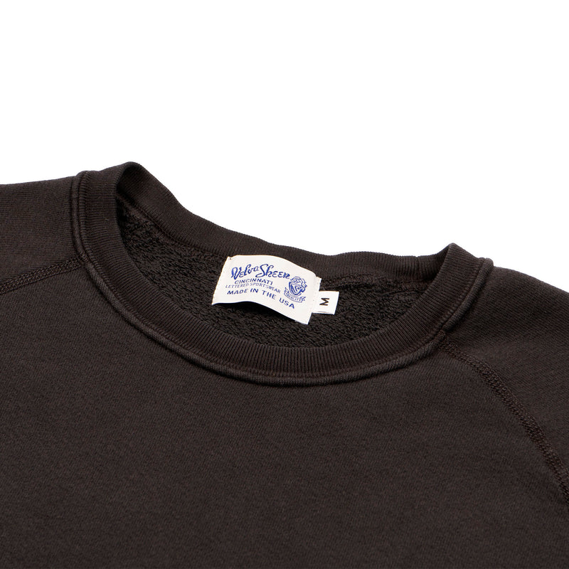 8oz Pigment Crewneck Freedom Sweat - Black