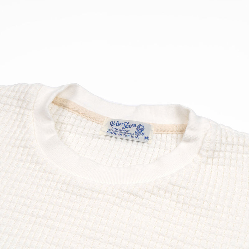 Heavy oz Thermal Long-Sleeved Crewneck Tee - White