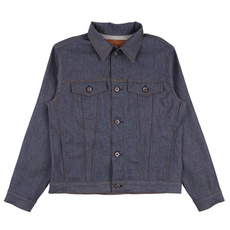 Stealth Pocket Denim Jacket - Natural Indigo Selvedge