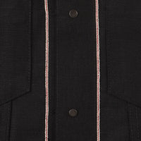 Stealth Pocket Denim Jacket - Solid Black Selvedge - inside selvedge