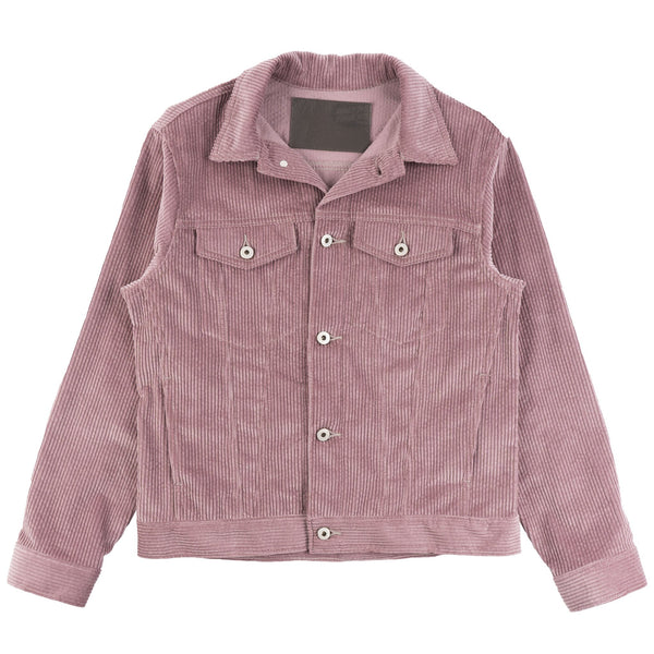 Denim Jacket - Seersucker Corduroy - Blush - front