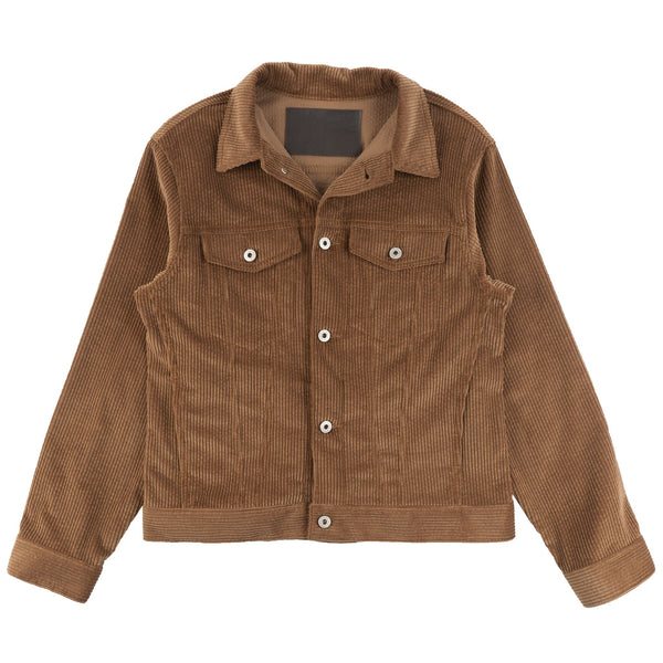 Denim Jacket - Seersucker Corduroy - Brown - front
