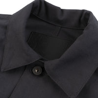 Chore Coat - Black Canvas - collar